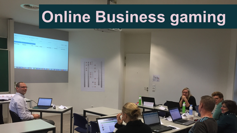 Businessgameplaatje-rollenspel